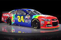 Jeff Gordon rainbow paint-scheme