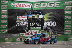 A stadium truck jump's Chaz Mostert's Ford