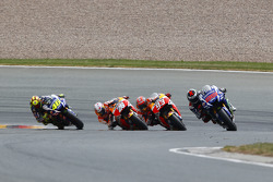 Jorge Lorenzo, Yamaha Factory Racing and Marc Marquez and Dani Pedrosa, Repsol Honda Team and Valentino Rossi, Yamaha Factory Racing