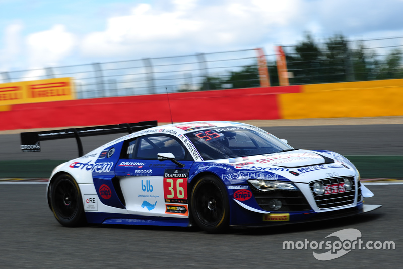 36 sainteloc racing audi r8 lms ultra mickael blanchemain gilles lallement at 24 hours of spa. Black Bedroom Furniture Sets. Home Design Ideas