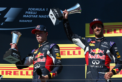 Daniil Kvyat, Red Bull Racing RB11 and Daniel Ricciardo, Red Bull Racing RB11