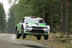 Esapekka Lappi and Janne Ferm, Skoda Motorsport Skoda Fabia R5