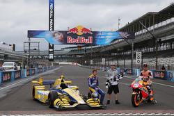 Marco Andretti, Andretti Autosport Honda and Dani Pedrosa, Repsol Honda Team and Nicky Hayden