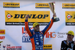 Podium: race winner Jack Goff, MG 888 Racing