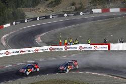 Timmy Hansen, Team Peugeot Hansen and Davy Jeanney, Team Peugeot Hansen