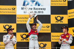 Podium: 2nd Bruno Spengler, BMW Team MTEK BMW M4 DTM, 1st Mike Rockenfeller, Audi Sport Team Phoenix Audi RS 5 DTM, 3rd Mattias Ekström, Audi Sport Team Abt Sportsline, Audi A5 DTM