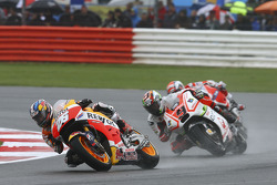 Dani Pedrosa, Repsol Honda Team and Danilo Petrucci, Pramac Racing Ducati and Andrea Dovizioso, Ducati Team