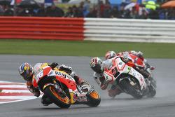 Dani Pedrosa, Repsol Honda Team and Danilo Petrucci, Pramac Racing Ducati and Andrea Dovizioso, Ducati Team