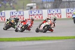 Danilo Petrucci, Pramac Racing Ducati and Andrea Dovizioso, Ducati Team and Bradley Smith, Tech 3 Yamaha