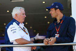 Pat Symonds, Williams Chief Technical Officer with Alex Wurz, Williams Driver Mentor and GPDA Chairman