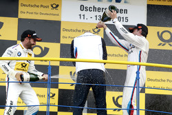Podium: Winner Timo Glock, BMW Team MTEK BMW M3 DTM and Bruno Spengler, BMW Team MTEK BMW M4 DTM with Ernest Knoors, BMW Team MTEK