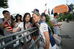 Susie Wolff, Williams Development Driver with the fans
