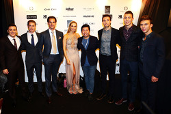 Fabio Leimer, Manor F1 Team Test and Reserve Driver, Stoffel Vandoorne, McLaren Test and Reserve Driver, Adrian Sutil, Williams Reserve Driver, Carmen Jorda, Lotus F1 Team Development Driver, Jolyon Palmer, Lotus F1 Team Test and Reserve Driver, Pierre Gasly, Red Bull Racing Test Driver at the Amber Lounge Fashion Show