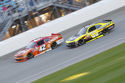 Kyle Larson, HScott Motorsports Chevrolet and Paul Menard, Richard Childress Racing Chevrolet