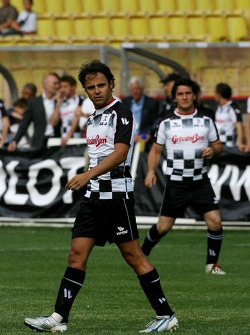 Star Team for Children VS National Team Drivers, Charity Football Match, Louis II StadiumAlbert II: Felipe Massa, Scuderia Ferrari and Giorgio Pantano