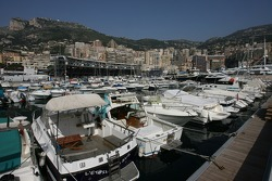 Boats in the port of Monaco