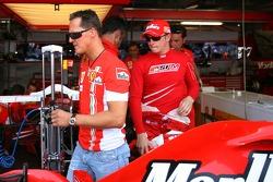 Michael Schumacher and Kimi Raikkonen, Scuderia Ferrari