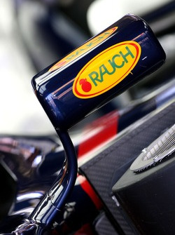Red Bull Racing detail of the mirror