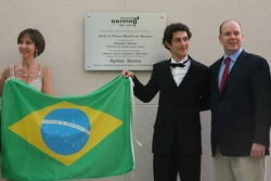 Plaque for Monaco Senna Celebration, Vivian Senna,  Bruno Senna, GP2 Adren International and Prince Albert II of Monaco