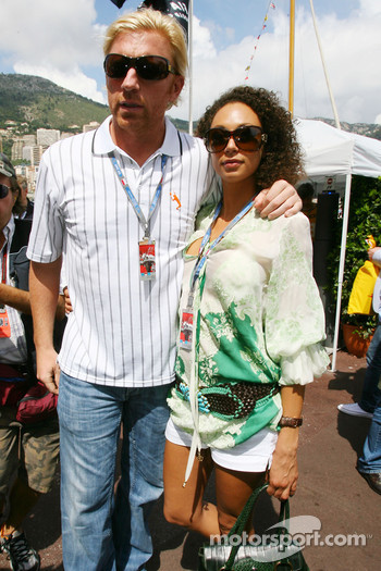 Boris Becker, Retired Tennis player and his girlfriend