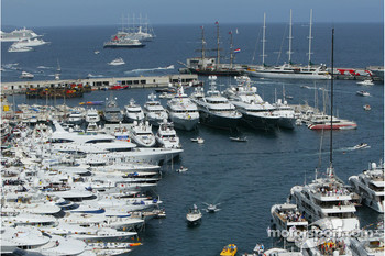 Port of Monaco activity before the race