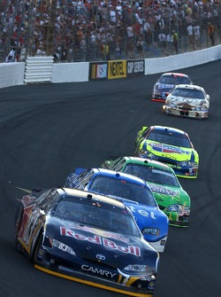 Brian Vickers had a strong run at the front of the field