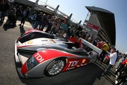 Audi Sport North America Audi R10 heads to scrutineering