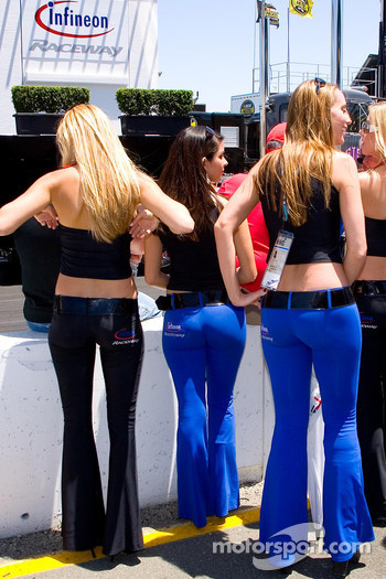 The lovely Infineon Raceway girls