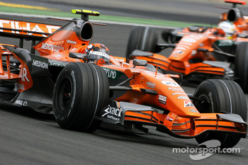 Christijan Albers, Spyker F1 Team, Adrian Sutil, Spyker F1 Team