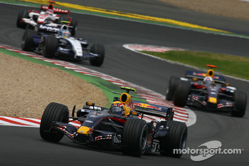 Mark Webber, Red Bull Racing, RB3 and David Coulthard, Red Bull Racing, RB3