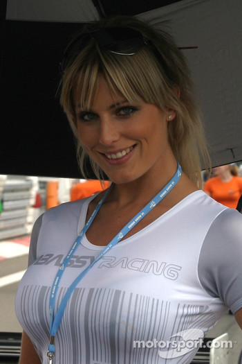 A lovely Embassy Racing girl