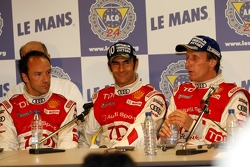 Post-race press conference: Marco Werner, Frank Biela, Emanuele Pirro