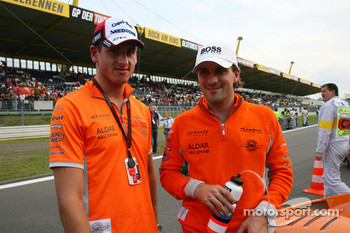 Adrian Sutil, Spyker F1 Team and Markus Winkelhock, Spyker F1 Team