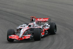 Fernando Alonso, McLaren Mercedes, MP4-22, gets sideways
