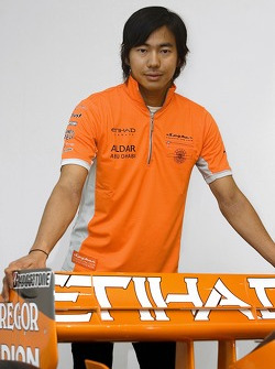 Sakon Yamamoto, signs for the Spyker F1 Team for the remainder of the season