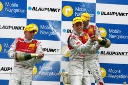 Podium: Alexandre Premat, Audi Sport Team Phoenix, Mattias Ekström, Audi Sport Team Abt Sportsline, Martin Tomczyk, Audi Sport Team Abt Sportsline
