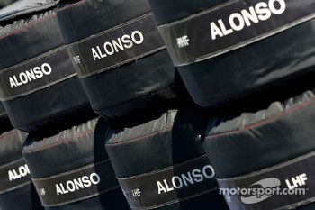Tires for Fernando Alonso, McLaren Mercedes