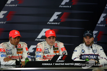 Qualifying press conference: pole winner Fernando Alonso, second Lewis Hamilton, third Nick Heidfeld