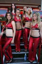 Budweiser girls at the autograph session