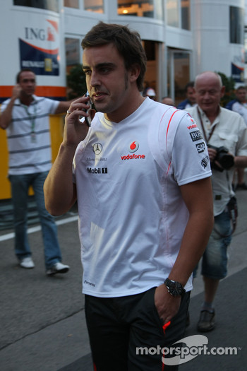 Fernando Alonso, McLaren Mercedes after leaving race control