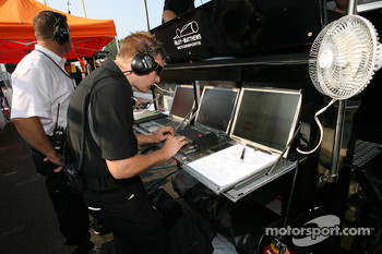 Riley-Matthews Motorsports team members at work