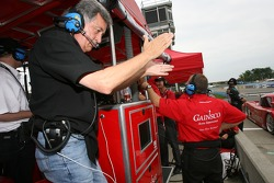 Gainsco Bob Stallings Racing team members celebrate the pole of Jon Fogarty