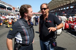 Christian Horner, Red Bull Racing, Sporting Director and Gerhard Berger, Scuderia Toro Rosso, 50% Team Co Owner