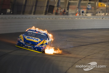 Michael Waltrip blows up