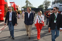 Piero Lardi Ferrari Son of Enzo Ferrari and 10% owner of the Ferrari automotive company and Luca di Montezemolo, Scuderia Ferrari, FIAT Chairman and President of Ferrari