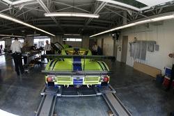 Krohn Racing Pontiac Riley at technical inspection
