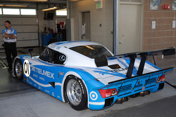 The #01 TELMEX Chip Ganassi with Felix Sabates Lexus Riley ready to qualify