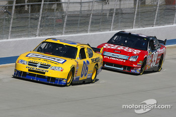 Sam Hornish Jr. and Carl Edwards