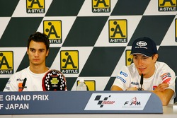 Post-qualifying press conference: pole winner Dani Pedrosa and third place Nicky Hayden
