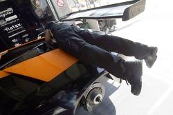 Reiter Lamborghini team member at work